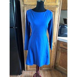 Athleta Blue Long Sleeve Dress Large